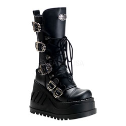 STOMP-101 Black Platform Boots