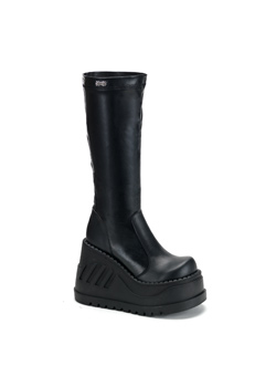 STOMP-300 Black Platform Boots