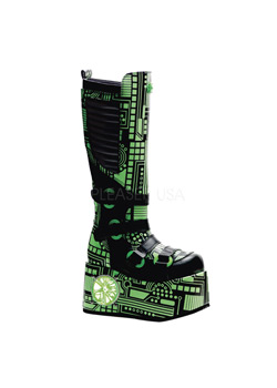 TECHNO-856UV Green Cyber Boots