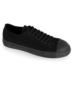 TYRANT-01ST Black Canvas Sneakers