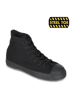 TYRANT-101ST Black Canvas Sneaker