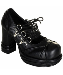 VAMPIRE-03 Black Laceup Shoes