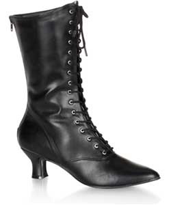VICTORIAN-120 Black Victorian Boots