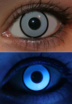 White UV Glow Lenses