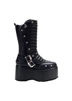 WICKED-701 Black Platform Boots
