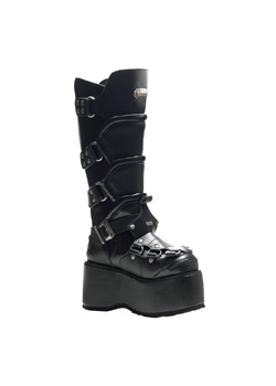 WICKED-732 Black Platform Boots