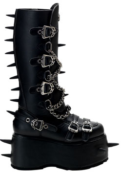 WICKED-808 Black Platform Boots