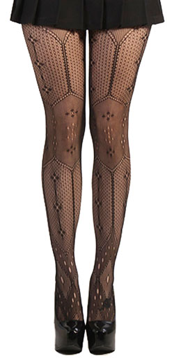 Multiweave Flower Pantyhose