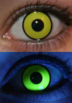 Yellow UV Glow Lenses