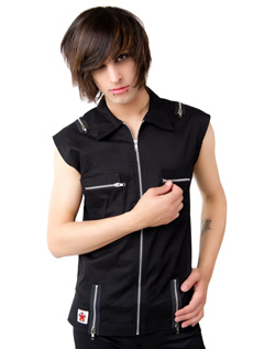 Zip Vest Denim