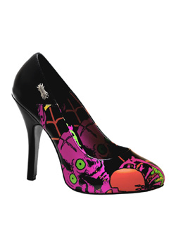 ZOMBIE-02 Black Graffiti Pumps