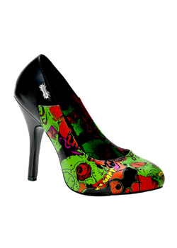 ZOMBIE-04 Black Graffiti Pumps