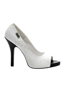 ZOMBIE-06UV White Stiletto Heels