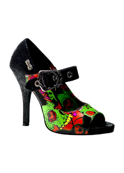 ZOMBIE-07 Black Zombie Heels