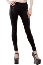 Jersey Zipper Leggings