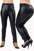 Rubber Look Jeans