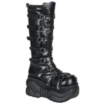 BOXER-200 Black Straps Boots