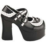 CHARADE-23 Black White Platforms