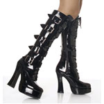 ELECTRA-2042 Patent Buckle Boots