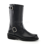 ENGINEER BOOT Black Leather Boots