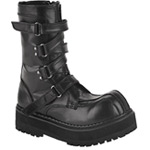 FIERCE-130 Black Strap Boots