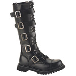 RIOT-20 Black Leather Boots