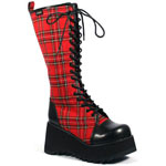 SCENE-100 Black PU Boots