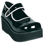 SPRITE-01 Black White Maryjanes