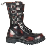ATTACK-10 Burgundy Leather Boots