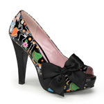 BETTIE-13 Muerto Print Heels