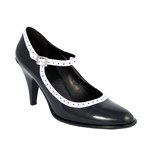 BETTY-01 Black Patent Heel
