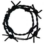 Black Barbed Wire Wristband