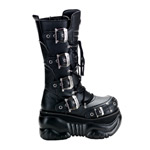 BOXER-205 Buckle Platform Boots