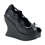 BRAVO-06 Marble Wedge Shoes