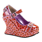BRAVO-10 Pink Leopard Wedges
