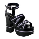 CHARADE-32 Black Zipper Sandals