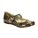 DAISY-04 Gold Cheetah Shoes