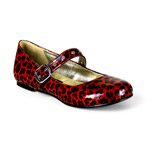 DAISY-04 Red Cheetah Shoes