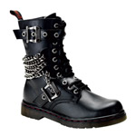 DISORDER-204 Black Military boots