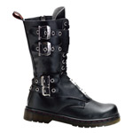 DISORDER-302 Black Buckle Boots