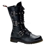 DISORDER-303 Black Buckle Boots