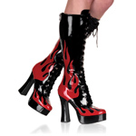 ELECTRA-2028 Red Flame Boots