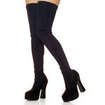 ELECTRA-3000 Black Lycra Boots