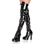 ELECTRA-3028 Black Patent Boots
