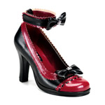 GLAM-40 Burgundy Bow Shoes