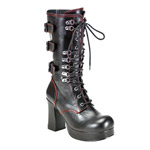 GOTHIKA-101 Laceup Buckle Boots