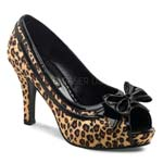 KITTY-03X Wide leopard Heels