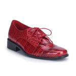 LOAFER-17 Red Alligator Shoes