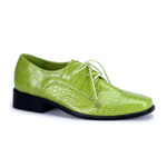 LOAFER-17 Green Alligator Shoes