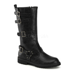 MOTO-200 Black PU Boots